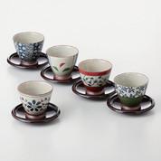 [VALUE] Senchawan 5 teacups & saucers set w box - Japanese Aritayaki Porcelain