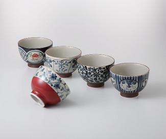 [VALUE] Chawan 5 bowl set w box - Japanese Aritayaki Porcelain