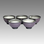 Purple muddy - Tokoname Pottery Tea Cup : 5chawan - Japanese casual ceramic