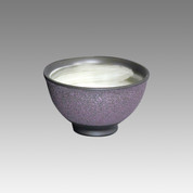 Purple muddy - Tokoname Pottery Tea Cup : chawan - Japanese casual ceramic - Item Image