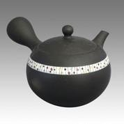 Tokoname Kyusu teapot - SHOHO - Upper belt 200cc/ml - ceramic fine mesh - Item Image