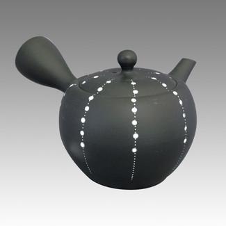 Tokoname Kyusu teapot - SHOHO - Luretto 200cc/ml - ceramic fine mesh - Item Iage