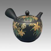 Tokoname Kyusu teapot - SHOHO - Orchid 420cc/ml - ceramic fine mesh - Item Image