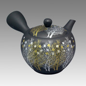Tokoname Kyusu teapot - SHOHO - Grove 320cc/ml - ceramic fine mesh - Item Image