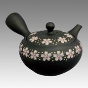 Tokoname Kyusu teapot - SHOHO - Gold & Silver SAKURA 350cc/ml - obi ami stainless steel net - Item Image