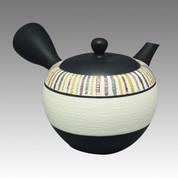 Tokoname Kyusu teapot - SHOHO - 6 color Line 320cc/ml - obi ami stainless steel net - Item Image