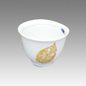 Gold Leaf - Tokoname Pottery Tea Cup : chawan - Japanese casual ceramic - chawan Image