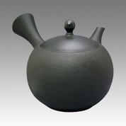 Tokoname Kyusu teapot - JINSUI - Black Satsuki 300cc/ml - ceramic circle fine mesh - Item Image