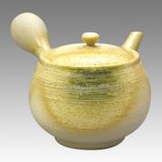Tokoname Kyusu teapot - JINSUI - White Oribe Line 280cc/ml - ceramic circle fine mesh - Item Image