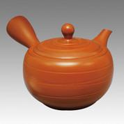 Tokoname Kyusu teapot - JINSUI - Black Line Stage 300cc/ml - obi ami stainless steel net - Item Image