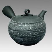 Tokoname Kyusu teapot - HAKUYO - Saliva Black Purple 300cc/ml - obi ami stainless steel net - Item Image