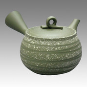 Tokoname Kyusu teapot - HAKUYO - Strange Line Stage 190cc/ml - obi ami stainless steel net - Item Image