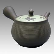 Tokoname Kyusu teapot - TOYO - Vine Flower 300cc/ml - obi ami stainless steel net - Item Image