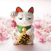 Sakura Manekineko - A - Right hand up - Lucky cat (Welcome cat)
