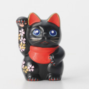 Sakura Mini Manekineko - C - Right hand up - Lucky cat (Welcome cat)
