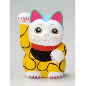 Karakusa Mini Manekineko - B - Right hand up - Lucky cat (Welcome cat)
