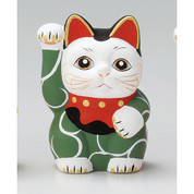Karakusa Mini Manekineko - C - Right hand up - Lucky cat (Welcome cat)