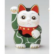Karakusa Mini Manekineko - C - Right hand up - Lucky cat (Welcome cat)