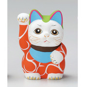 Karakusa Mini Manekineko - D - Right hand up - Lucky cat (Welcome cat)