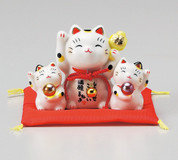 Kawaii Mini Manekineko - C - Lucky cat (Welcome cat) w Bell