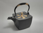 Rectangle Kotetsubin - Hemp & Saya - 500ml/cc - Small Iron Teapot Kettle