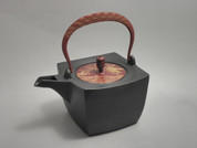 Rectangle Kotetsubin - Treasure & Bamboo - 500ml/cc - Small Iron Teapot Kettle