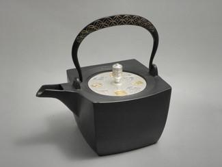Rectangle Kotetsubin - Treasure & Gold Silver - 500ml/cc - Small Iron Teapot Kettle