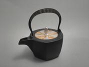 Hexagon Kotetsubin - Gold Silver & Thunder - 350ml/cc - Small Iron Teapot Kettle