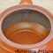 Tokoname Kyusu teapot - HAKUYO - Light Blue Dotted Line 300cc/ml - obi ami stainless steel net - obi ami stainless steel net