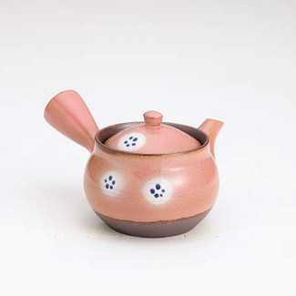 Banko-yaki Kyusu teapot - Safflower pattern - 380cc/ml