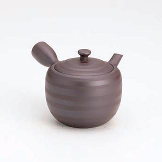 Banko-yaki Kyusu teapot - Horizontal stripes - 260cc/ml