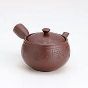 Banko-yaki Kyusu teapot - Pine carving - 360cc/ml