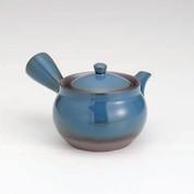 Banko-yaki Kyusu teapot - Blue glaze - 380cc/ml
