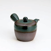 Banko-yaki Kyusu teapot - Stripe Oribe - 350cc/ml