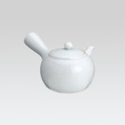 Arita-yaki Kyusu teapot - White mini Kyusu - 120cc/ml
