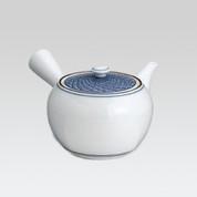 Arita-yaki Kyusu teapot - Seikaiha Blue wave - 450cc/ml