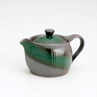 Banko-yaki Kyusu teapot - Green glaze - 400cc/ml