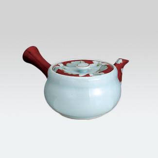 Arita-yaki Kyusu teapot - Red and white - 270cc/ml