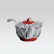 Arita-yaki Kyusu teapot - Stripe lid flower - 240cc/ml