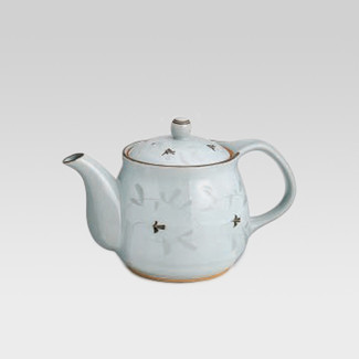 Arita-yaki teapot - White arabesque - 550cc/ml