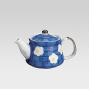 Teapot - Blue & plum - 360cc/ml