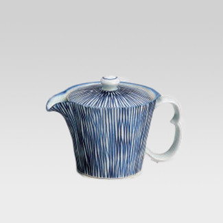 Arita-yaki teapot - Blue stripe - 300cc/ml