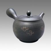 Tokoname Kyusu teapot - SHUNJYUN - Cinnamon Cut 360cc/ml - obi ami stainless steel net - Item Image