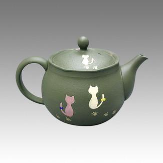 Tokoname Kyusu teapot - HAKUYO - Chlorite 300cc/ml - obi ami stainless steel net - Item Image