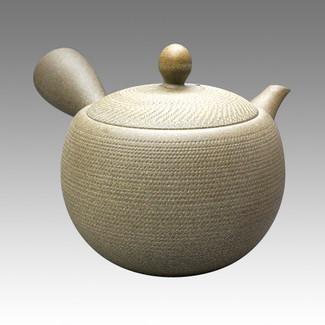 Tokoname Kyusu teapot - MORIMASA - Burning 400cc/ml - obi ami stainless steel net - Item Image