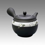Tokoname Kyusu teapot - SHUNJYU - White Camellia 360cc/ml - obi ami stainless steel net - Item Image