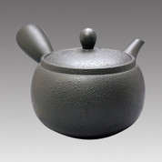 Tokoname Kyusu teapot - MORIMASA - Black Spray 540cc/ml - obi ami stainless steel net - Item Image
