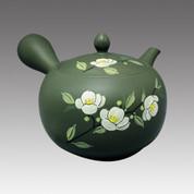 Tokoname Kyusu teapot - SHUNJYU - Tea flower 580cc/ml - obi ami stainless steel net - Item Image
