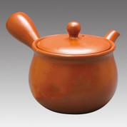 Tokoname Kyusu teapot - MAMIYA - Orange 330cc/ml - Refresh stainless steel net - Item Image