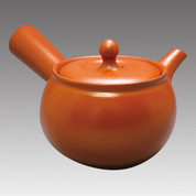 Tokoname Kyusu teapot - MAMIYA - Orange B 330cc/ml - Refresh stainless steel net - Item Image